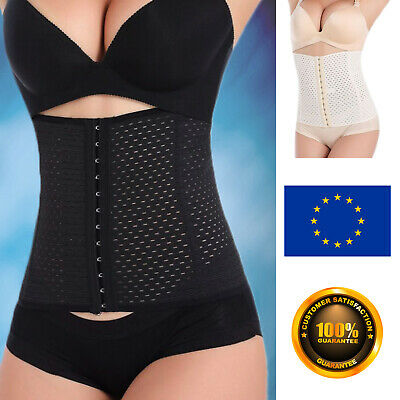 Waist Shaper Body Trainer Cincher Belt Corset UK Women Girdle Tummy Training