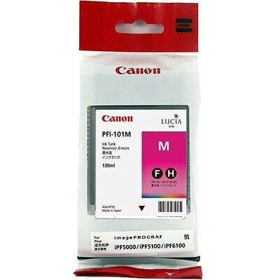 Canon PFI-101M Magenta Ink For Canon iPF5000 5100 6000 iPF6100 130ml 2017