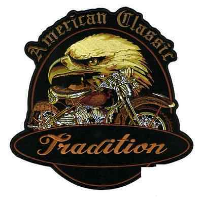 Patch aigle tradition écusson thermocollant biker blouson gilet moto custom PF