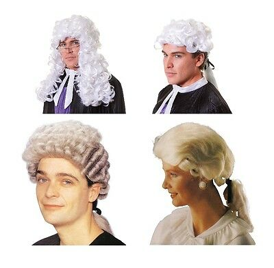 Court / Barrister / Judge / Lawyer Wig Emergency Services Fancy Dress Accessory
