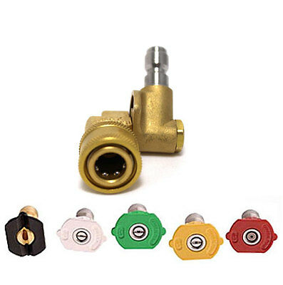 Pivot Coupler for Lance or Telescopic Lance for Pressure Washers + Nozzle Set