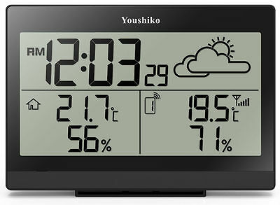 Digital Weather Station with wireless sensor and Radio Controlled Clock