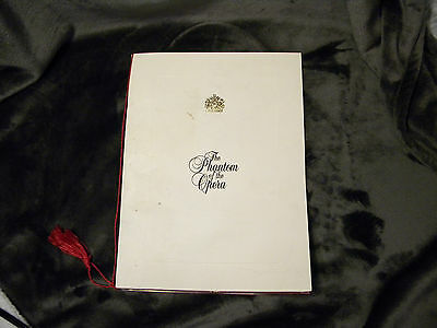 Phantom of the Opera Souvenir Brochure Program in Good Condition, Great Pictures