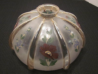 Unique Glass Oil Lamp Shade Pendant Light Shade Hand-Painted Floral Design