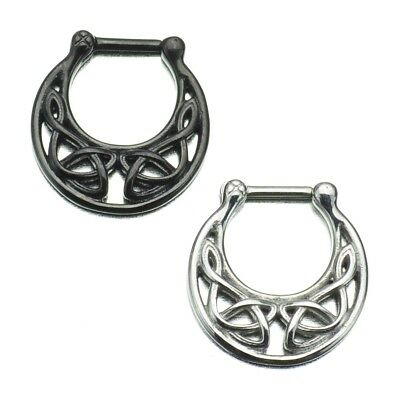 Septum Clicker with Celtic Knot Charm Stainless Steel