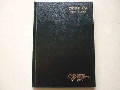 2016 Diary A5 Week to A View hard cover OPD branded by Collins Debden WTO