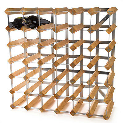 NEW Traditional Wine Rack Co. Light Oak Wine Rack 42 Bottles