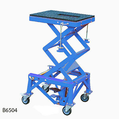 Motorcycle Lift Stand, Hydraulic Lift, Motor Bike Stand Lift, New (B6504) @ Dtm