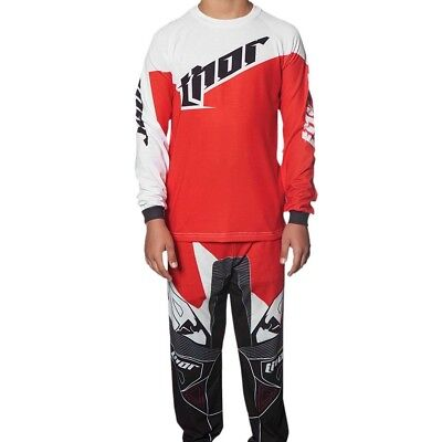 Thor NEW Mx Youth Baby PJ's Tilt Red White 2 Piece Toddler Motocross Pajamas