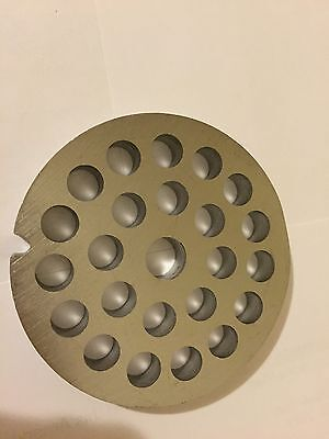 """#12  Stainless  Meat Grinder Plate 1/4"""" Hole"""