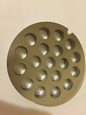 """#12  Stainless  Meat Grinder Plate 3/8"""" Hole"""