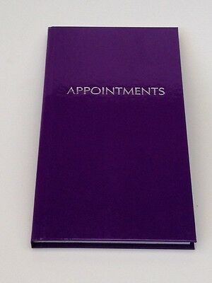 3 Column Appointment Book - Purple - Receptionist/Estate Agents/PA