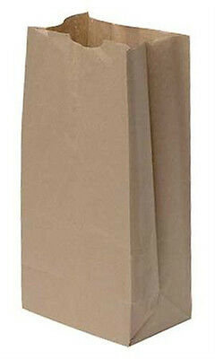 """Case of 1000 New Natural Paper Grocery Bags - 7 1/16"""" x 4 ½"""" x 13 ¾"""""""
