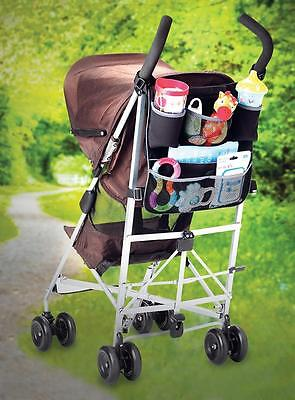 Lindam 2 in 1 Pushchair and Car Backseat Organiser - Holds Toys, Snacks, Drinks