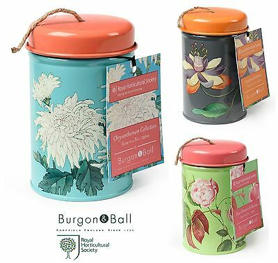 Burgon & Ball RHS Flowers Floral Garden String Twine in a Tin, 3 Designs