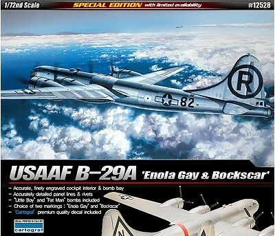 Academy 1/72 Plastic Model Kit B-29A Enola Gay & Bockscar 12528 Cartograf Decal
