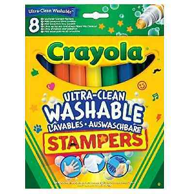Crayola Stampers Markers Ultra Clean Washable Colouring Felt Tip Pens Stationery