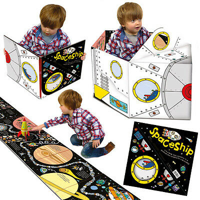 Boys Spaceship Convertible  Book Toy 3-6 Years Boy Cosmos Rocket playmat M Kelly