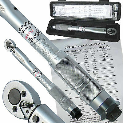 Ratchet Torque Wrench 3/8 drive 5-25nm Trade Quality inc calibration certificate