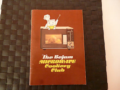 BEJAM MICROWAVE COOKERY CLUB BOOKLET/MAGAZINE 1980s