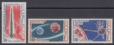 Mauretanien 1966 ** Mi.266/68 Weltraum Space Satellit Rakete Rocket [sq5597]