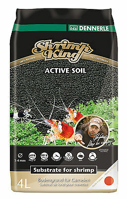Dennerle Shrimp King Active Soil - 4L Substrate for Soft Water Shrimp