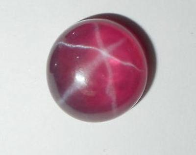 Lab Created Synthetic Transparent Star Ruby Round Cabochon Loose stone (5-10mm)