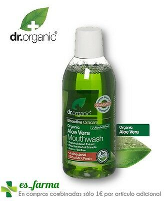 Dr. Organic Enjuague Bucal Protector Aloe Vera 500Ml