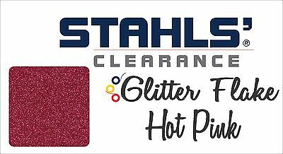 "20"" x 10 Yards - Stahls' Glitter Flake - Heat Transfer Vinyl - Hot Pink"