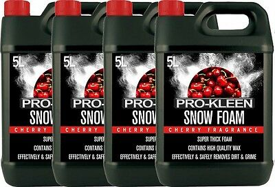 Snow Foam Car Shampoo Wax Vehicle Wash Cleaning Shine Pressure Washer Cherry 20L