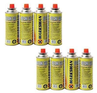 8 X Butane Gas Canisters Bottle Camping Portable Grills Heaters And Flames