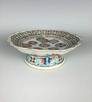 19th C Chinese Famille Rose Porcelain Footed Dish/Bowl, Mark & Period, Tongzhi
