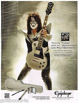Epiphone - Spaceman Les Paul - Tommy Thayer of Kiss - 2013 Print Advertisement