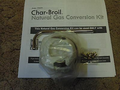Charbroil Dual Fuel NATURAL GAS CONVERSION KIT (7) GAS ORIFICES,BEZELS & TOOL