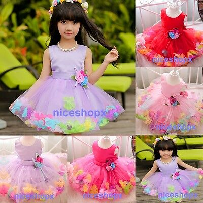 Girls Flower/Bridesmaid/Party/Princess/Prom/Wedding/Christening Dress (49)