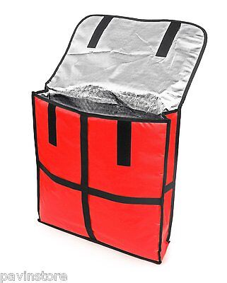 New Star Foodservice Pizza Delivery Bag Aluminum Insulation Strap 22 X 22 X 5
