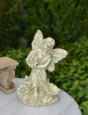 Miniature Dollhouse FAIRY GARDEN ~ Antiqued Ivory Resin Angel Statue ~ NEW