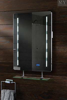 Quartz Illuminated LED Bathroom Mirror with Shelf