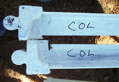 Rare Two Antique COL Taper Pin Bed Rails For Your Old Beds