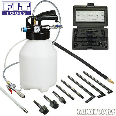 FIT 6L Air ATF Auto Transmission Oil Extractor Refill Pump W/ Rubber Nozzle Kit