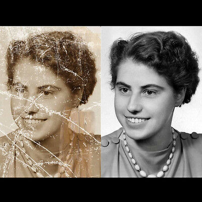 Photo restoration Retouching
