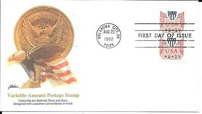 United States 1992 Variable Amount Stamp Fleetwood First Day Cover