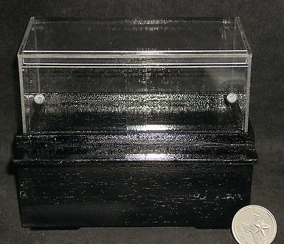 Dollhouse Miniature Pastry Bakery Black Display Case 1:12 #SC36 DAMAGED REDUCED