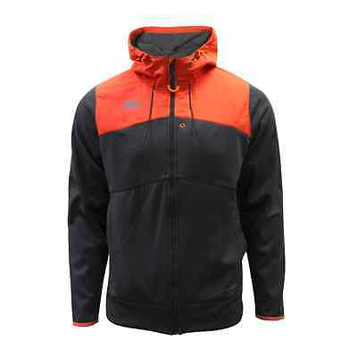 Canterbury Mens Thermoreg Full Zip Hoodie – Nine Iron Grey/Red Spark