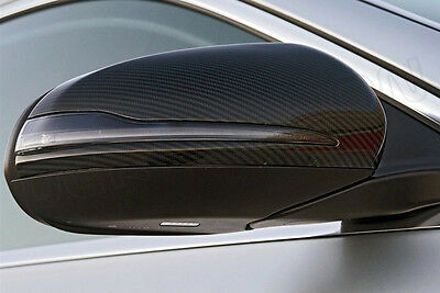 New Mercedes Benz W205 - W222 14-16 Stick On Genuine Carbon Fibre Mirror Covers