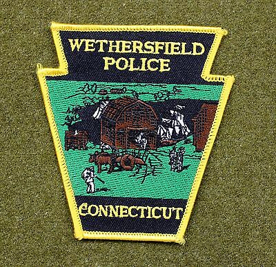33621) Patch Wethersfield Connecticut Police Department Sheriff Fire Insignia