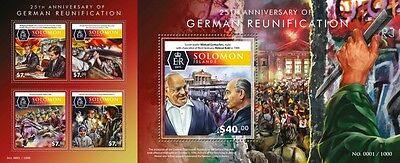 Z08 Imperforated SLM15502ab SOLOMON ISLANDS 2015 German Reunification MNH Set