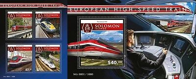 Z08 Imperforated SLM15509ab SOLOMON ISLANDS 2015 Trains MNH Postfrisch Set