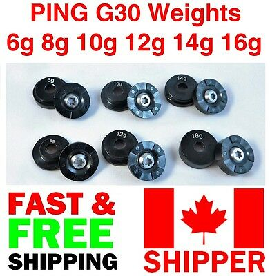 GOLF WEIGHT FOR PING G or G30 DRIVER /FW (ONE WEIGHT 8,10,12,14,16)
