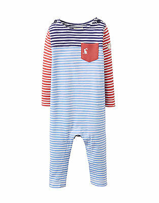 a5c9829e38f9 BABY BOYS STRIPED Footless Babygrow Sleepsuit Romper 0-3 Months ...